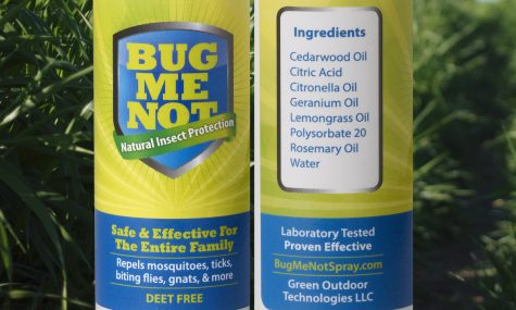 BugMeNot bottle with ingredients